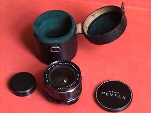 Vintage Pentax Asahi Super Takumar 35mm F3.5 M42 Mount Lens, Case, And Caps