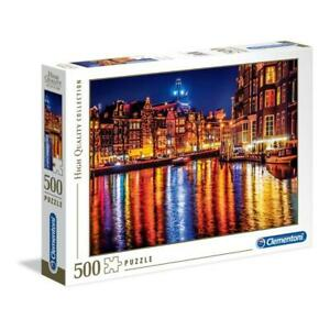 puzzle Clementoni 500 pezzi AMSTERDAM HQC High Quality 49x36 35037 + OMAGGIO