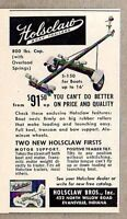 1956 Print Ad Holsclaw Boat Trailers Made in Evansville,IN
