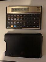 Vintage Hewlett Packard HP12C Financial Calculator w/ Leather Case