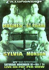 2010 TOPPS UFC SERIES 4 INSERT POSTER  65 MATT HUGHES GSP GEORGES ST-PIERRE
