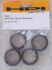 HPI Micro RS4 Front/Rear Drift Tire Set HPI73416