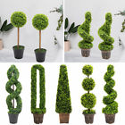 Realistic Large Potted Topiary Tree Artificial Boxwood Fake Plants Home Office