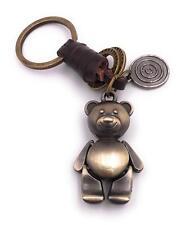 ours en peluche porte-clés en métal bronze