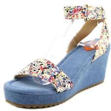 Sandalias y chanclas de mujer de color principal azul de lona