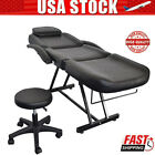 Tattoo Massage Bed Beauty Barber Chair Adjustable Facial Salon Spa Chair Stool