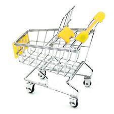 Mini Supermarket Handcart Shopping Utility Cart Mode Storage Basket Desk Decor