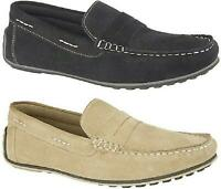 Roamers ALFRED Mens Genuine Suede Leather Slip On Moccasin Loafers Shoes