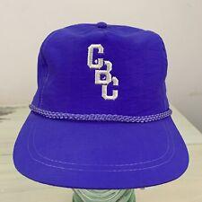 CHRISTIAN BROTHERS COLLEGE - Vtg 80s-90s CBC Purple High School SnapBack Hat