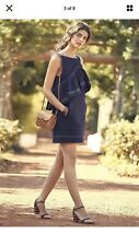 Anthropologie KAREN WALKER FRESCA Blue Cotton Ruffle Front Dress Size 2p $425