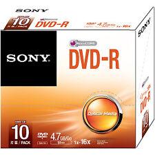 Disco Sony Dvdr 10x 4.7 GB SC 16x