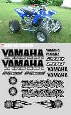 Yamaha BLASTER BLACK Airbrush Look Quad ATV Stickers 16pc Decal Graphics