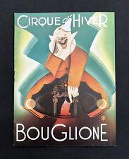 Programme Cirque d'Hiver BOUGLIONE 1951-1952