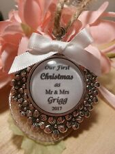 Our first Christmas as Mr and Mrs & LGBTQ personalised hanging 1st keepsake