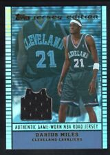 DARIUS MILES 2002/03 TOPPS JERSEY EDITION CAVALIERS RELIC GAME JERSEY SP $15