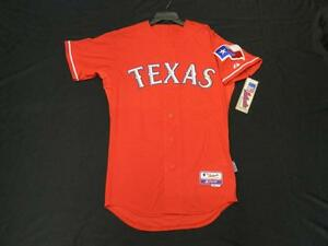 Majestic AUTHENTIC SIZE 56 3XL, TEXAS RANGERS, RED, COOL BASE, ON FIELD JERSEY