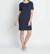 """4.1642 Jersey-Kleid mit Stickerei & Taschen """"marine"""" Gr. 50"""