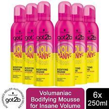 Schwarzkopf got2b Volumaniac Mousse For Insane Volume, 6 Pack of 250ml