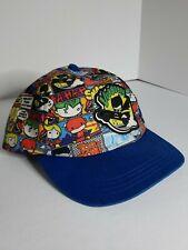 Youth DC Tiny Characters Comic Hat Cap Blue Brim Unbranded Batman Superman Joker