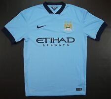 d5b7c9553 Rare VTG NIKE Manchester City 2014 Etihad Airways Dri-Fit Jersey Soccer  Blue M