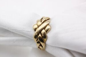9ct Yellow Gold 4 Piece Puzzle Ring Size P 4.5g - 0905014