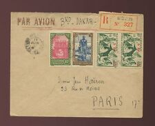 FRENCH SAHARA MOPTI REGISTERED AIRMAIL COMBINATION FRANKING via BAMAKO MALI