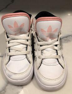Adidas Hardcourt Infant/toddler Girls Black/pink/white Shoes--size 7k