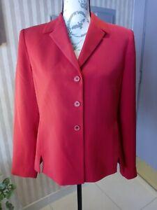Red Jacket Blazer KASPER Sz. 8P Long Sleeves, pockets, fully lined, exc. condtn.