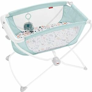 Fisher-Price Rock with Me Bassinet Pacific Pebble Portable Bassinet with Rock...