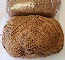 Lion Brand Mill End Yarn ~ 100% Organic Cotton ~ Medium Brown / Cocoa