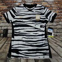 Nike Womens Dri-Fit South Korea White Black Soccer Jersey CU6219-100 Sz Medium