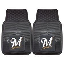 """Fan Mats MLB - Milwaukee Brewers 2-pc Vinyl Car Mats 17""""x27"""" 8842"""