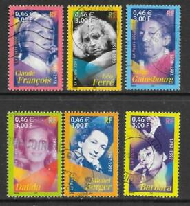 FRANCE - 2001.  Singers - Set of 6, Used