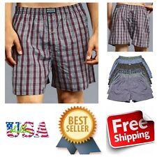 3 6 12 PACK Men Knocker Plaid Boxer Shorts Underwear Lot Trunk Boxer Brief S-3X
