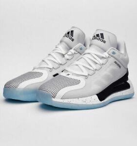 adidas D Rose 11 Men Basketball Shoes Sneaker White Black Grey Blue FX6539 SZ 13