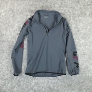 Reebok Shirt Extra Small Gray Long Sleeve 1/4 Zip Lightweight Crossfit Gym EUC