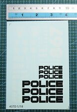 437b 1//18 Water Slide Decals Transformers POLICE 911