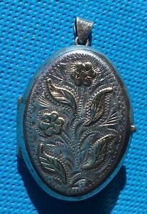 Silver Jewellery Vintage Scandia Sterling Very Ornate opening Pendant, locket,