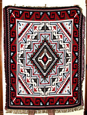 Super Soft Woven Throw Blanket Southwestern 4'x5' Reversible Lightweight  2B