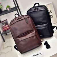 Vintage Men Women Leather Backpack Laptop Satchel Travel School Bag Rucksack