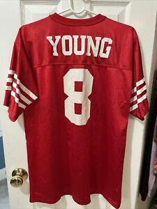 Steve Young San Francisco 49ers Red Logo Athletic Boys Jersey Size XL 18-20