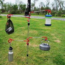 2 way Lantern Hook Hanger Lamp Tent Pole Post Outdoor Camping Climbing Fishing