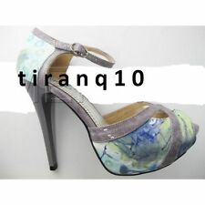 Synthetic Leather Stiletto Multi-Coloured Heels for Women