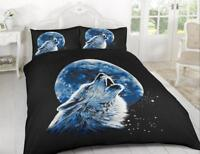 3D Wolf Moonlight Animal Print Bedding Set Quilt Duvet Cover with Pillow Case