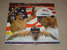 MICHAEL PHELPS 2009 LIMITED EDITION CALENDAR NEW SEALED * OLYMPIC GOLD MEDALIST