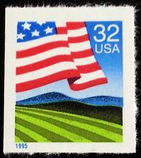 1995 32c Flag over Field, Booklet Single, SA Scott 2919 Mint F/VF NH