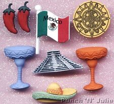 MEXICO  Red Chilli Chili Chile Pepper Hat Flag Mexican Dress It Up Craft Buttons