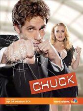 POSTER Chuck Bartowski Zachary Levi Yvonne Strahovski SERIE TV SHOW NBC SEASON 2