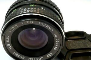 Albinar 28mm F2.8 PK Lens manual focus prime for Pentax K mount K1000