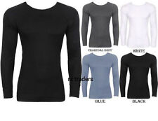 Mens Long Sleeve Vest T Shirt Thermal Warm Underwear Top Base Layer Under Wear